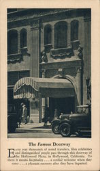 The Famous Doorway of Hollywood Plaza Postcard
