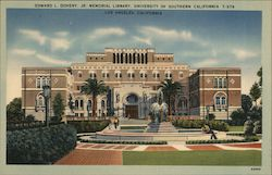 Edward L. Doheny Jr. Memorial Library, University of Southern California Postcard