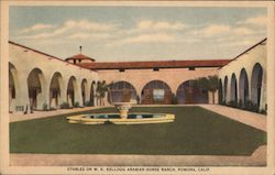 Stables on W.K. Kellogg Arabian Horse Ranch Postcard