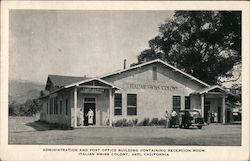Administration and Post Office, Reception room, Italian Swiss Colony Postcard