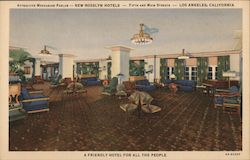 New Rosslyn Hotels, mezzanine parlor Postcard