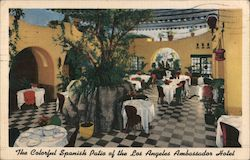 Spanish patio of Ambassador Hotel Postcard