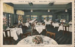 Santa Maria Inn, dining room Postcard