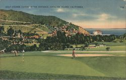 Golf Course, Casino in the Distance Postcard