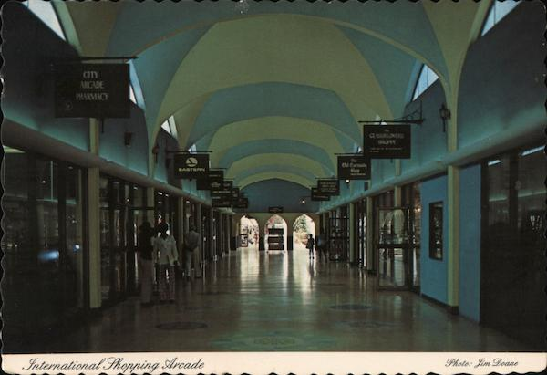 International Shopping Arcade Bahamas Caribbean Islands