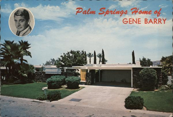 Palm Springs Home of Gene Barry California