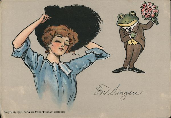 1905 Frog In Your Throat For Singers Frogs