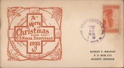 A Merry Christmas from the US Naval Hospitals 1935 First Day Cover