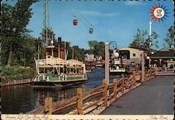 Frontier Lift Over River Ride - Cedar Point Postcard