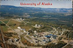 Aerial View of University of Alaska Postcard