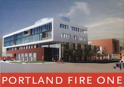 Portland Fire One Postcard