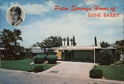 Palm Springs Home of Gene Barry Postcard