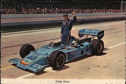 Bobby Unser and his race car Postcard