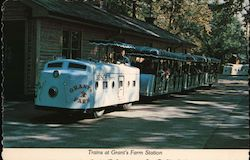 Grants Farm Trains Postcard