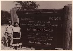 Chiricahua National Monument, Faraway Ranch Postcard