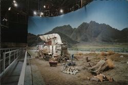 Western Set on Sound Stage at Universal Studios Postcard