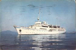 "The Ship ""Delos"" From Nomikos Lines of Piraeus, Greece Postcard"