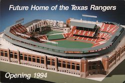 Future Home of the Texas Rangers opening 1994 Postcard