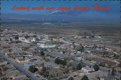 Looking North into Arizona - Phelps Dodge Smelter Postcard