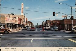 Street Scene in Bend, Oregon Postcard