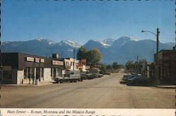 Main Street and Mission Mountain Range