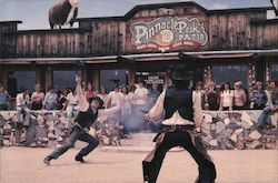 Pinnacle Peak Patio steakhouse and Wild West show Postcard