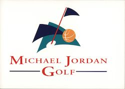 Michael Jordan Golf Postcard