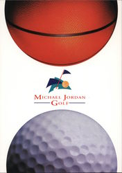 Michael Jordan Golf. Basketball and golf ball. Postcard