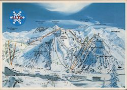 Alta Ski Resort - Map of Runs and Difficulty Postcard