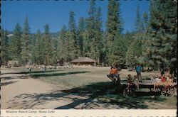 Meadow Ranch Camp, Hume Lake Postcard