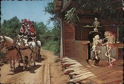 Stagecoach Passes Ghosttown Texas Section - Six Flags Over Texas Postcard