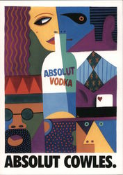 Absolut Cowles. Absolut Vodka Postcard