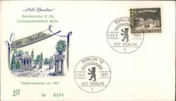 """Alt Berlin"" Potsdamerplatz um 1825. Park with columned buildings First Day Cover"