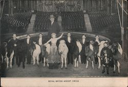 John Lester's Royal British Midgets Postcard