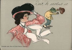 1905 Frog In Your Throat Don't be without it. Postcard