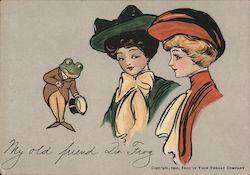 1905 Frog In Your Throat My old friend Dr. Frog. Postcard