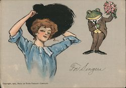 "1905 Frog In Your Throat ""For Singers"" Postcard"