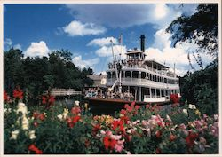 Majestic Richard F. Irvine Steamboat ro the Frontier Rivers of America Postcard