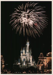 Magic Kingdom. Fantasy in the sky over the Cinderella Castle. Fireworks