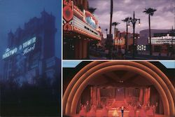 Disney MGM studios, The Hollywood Tower hotel,Sunset Boulevard, grand stage Postcard