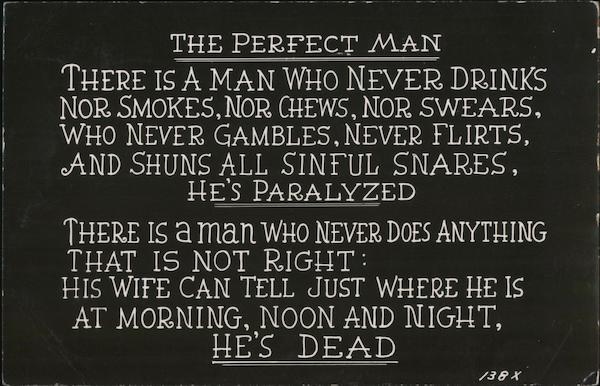 The Perfect man Comic, Funny