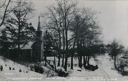 St. Joseph's Shrine, Irish Hills, Christmas Morning 1914 Postcard