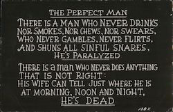 The Perfect man Postcard