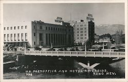 U.S. Post Office and Hotel Riverside Postcard