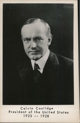 Calvin Coolidge, President of the United States 1923-1928 Postcard