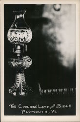 The Coolidge Lamp and Bible Postcard