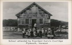 School Attended by President Calvin Coolidge Postcard