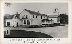 Coolidge Birthplace & Summer White House Postcard