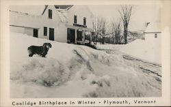 Coolidge Birthplace in Winter Postcard