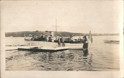 Excursion Boat and Passengers at the Dock Postcard